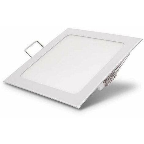 Downlight carré LED 24W Blanc - Blanc du Jour 6000K
