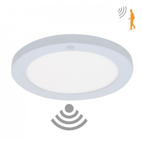 Downlight con sensor de movimiento 3 tonalidades 18W empotrar o superficie