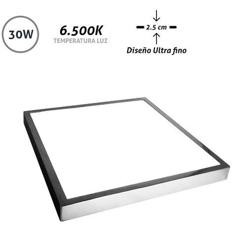 Downlight cromado serie Amuleto 30W luz fria 30x30x2,5