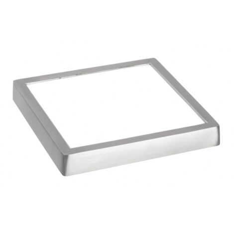 Downlight cromado serie Amuleto 30W luz natural 30x30x2,5