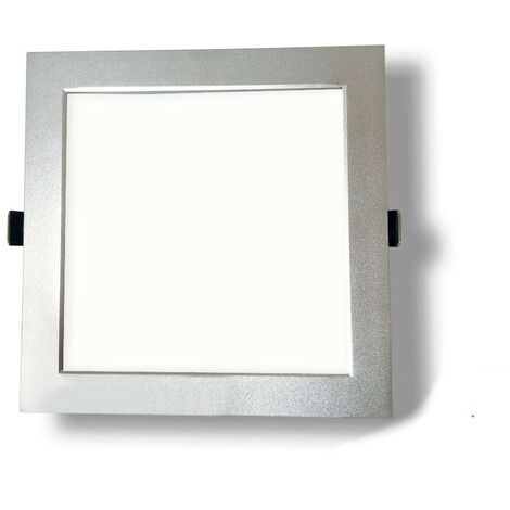 Downlight Cuadrado 25W LED Samsung SMD50630 Plata -Disponible en varias versiones