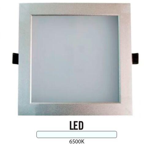 Downlight Cuadrado Aluminio 25W Plata -Disponible en varias versiones