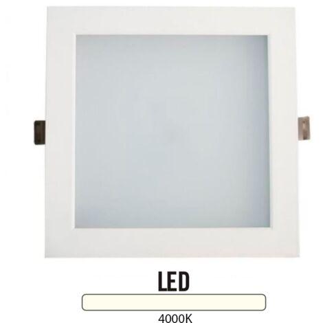 Downlight Cuadrado Aluminio Blanco 25W -Disponible en varias versiones