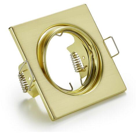 Downlight cuadrado empotrada ajustable podemos ofrecer y asesorar a los GU10 color ORO 400619OR-GU10