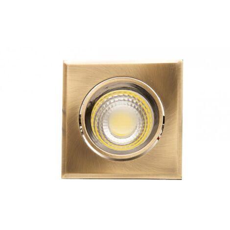 Downlight Cuadrado Led Urano cuero 5w luz natural - Cuero