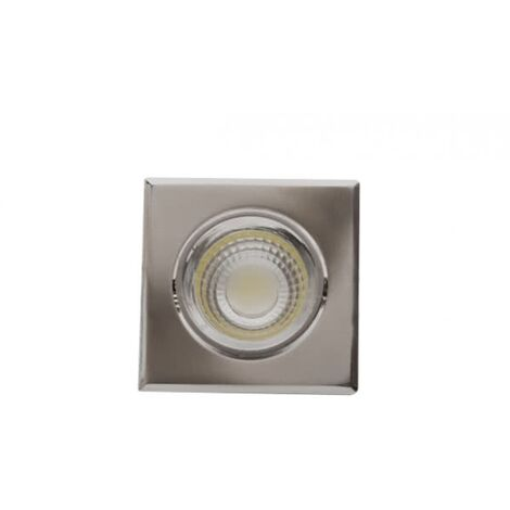Downlight Cuadrado Led Urano Níquel 5w luz natural
