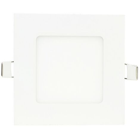Downlight cuadrado ultraplano blanco 6W -Disponible en varias versiones