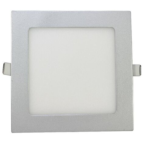Downlight Cuadrado Ultraplano Plata 12W -Disponible en varias versiones