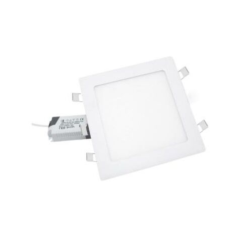 Downlight Dalle LED Extra Plate Carré BLANC 24W