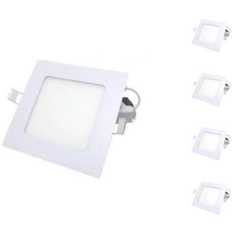 Downlight Dalle LED Extra Plate Carré BLANC 24W (Pack de 5)