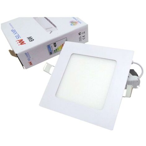Downlight Dalle LED Extra Plate Carré BLANC 6W