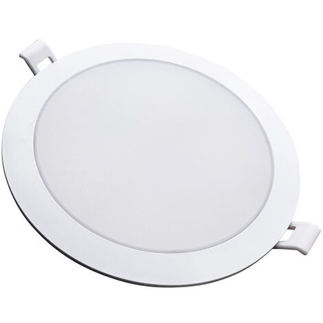 Downlight Dalle LED Extra Plate Ronde BLANC 12W Ø115mm - Blanc Froid 6000K - 8000K