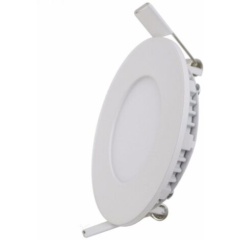 Downlight Dalle LED Extra Plate Ronde BLANC 12W