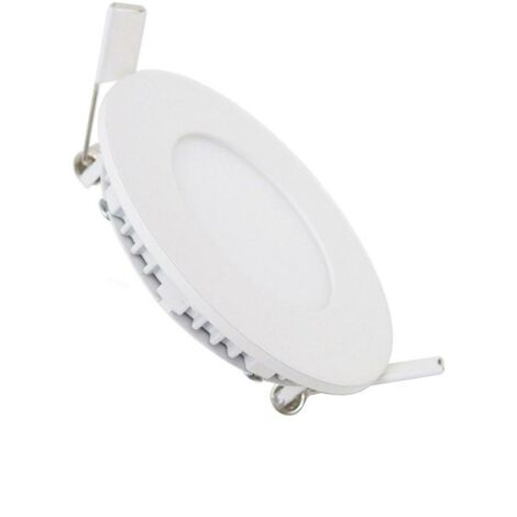 Downlight Dalle LED Extra Plate Ronde BLANC 3W