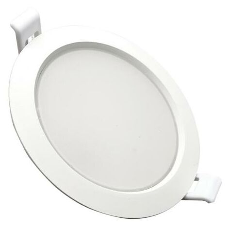 Downlight Dalle LED Plate Ronde BLANC 10W Ø115mm - Blanc Froid 6000K - 8000K