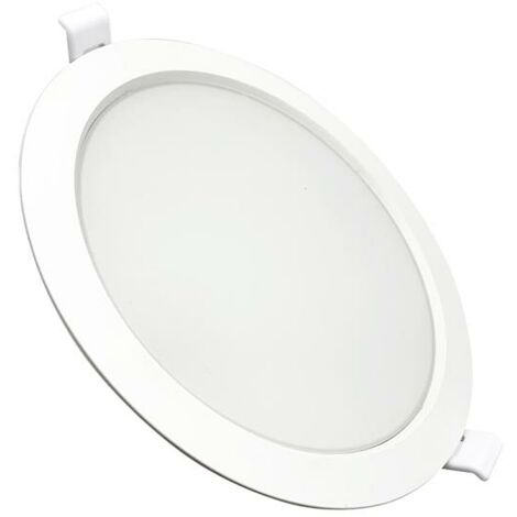 Downlight Dalle LED Plate Ronde BLANC 24W Ø225mm - Blanc Froid 6000K - 8000K
