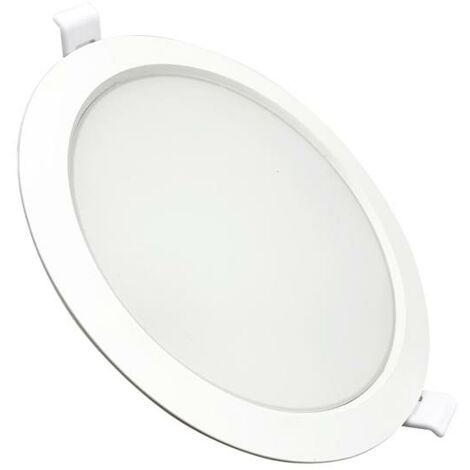 Downlight Dalle LED Plate Ronde BLANC 24W Ø225mm - Blanc Neutre 4000K - 5500K