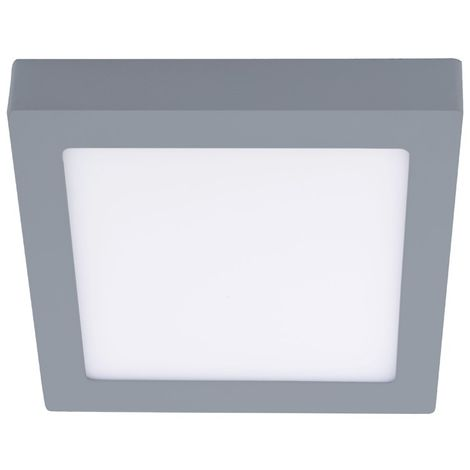 Downlight de de fon LED 18W 4000K Know cuadrado gris CRISTALRECORD 02-600-18-181