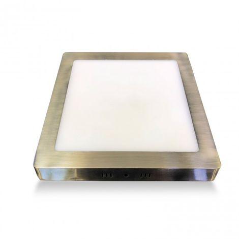 Downlight de superficie 18W LED cuadrado cuero 4000k