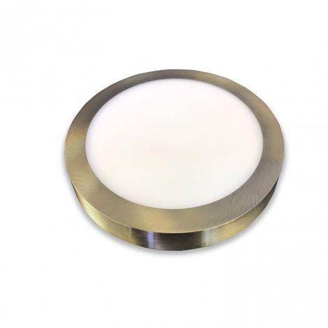 Downlight de Superficie LED 18W circular color cuero 4000k