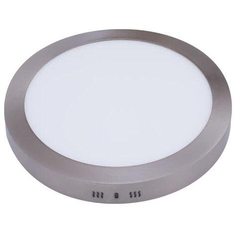 Downlight de superficie redondo 18w Aquiles níquel luz fría