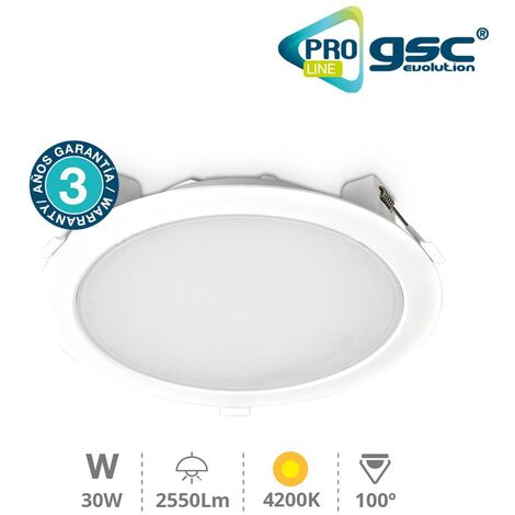 Downlight empotrable 30W 4200K - Pro Line
