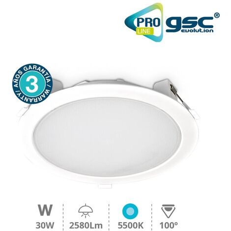 Downlight empotrable 30W 5500K - Pro Line