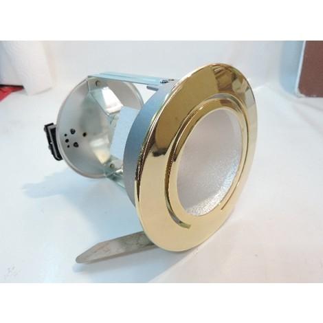 Downlight encastré Ø 156mm doré fixe pour lampe iodure 70W max G12 (non fournie) sans ballast L.D. System 156 ARTEMIDE L601960