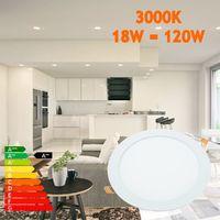 Downlight led 18W 3000ºK redondo empotrar blanco