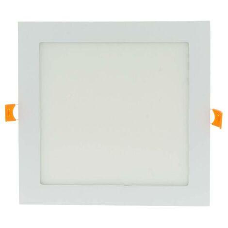 Downlight LED 18W cuadrado empotrable 1800lm IP20 - 5 años de garantía