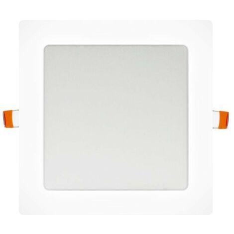 Downlight LED 18W empotrar aro blanco Cuadrado