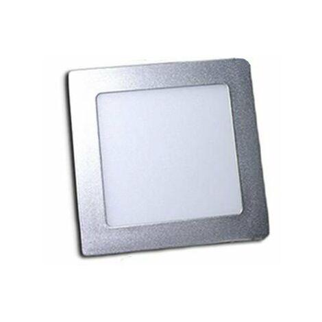 Downlight LED 18W empotrar aro plata Cuadrado
