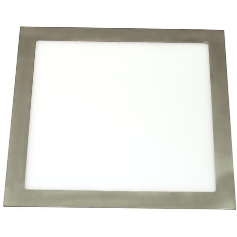 Downlight LED 24W 4200K cuadrado empotrar acabado acero