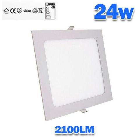 Downlight LED 24W empotrar cuadrado Aro Blanco