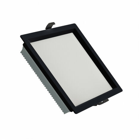 Downlight LED 40W SAMSUNG New Aero Slim Cuadrado 130 lm/W (UGR17) LIFUD Negro Corte 210x210 mm Blanco Frío 6000K - Blanco Frío 6000K