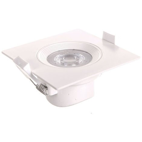 Downlight LED 5W cuadrado al ras blanco Lamprix 427889