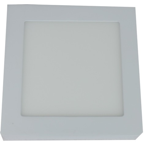 Downlight led 6W 6000ºK cuadrado superficie blanco