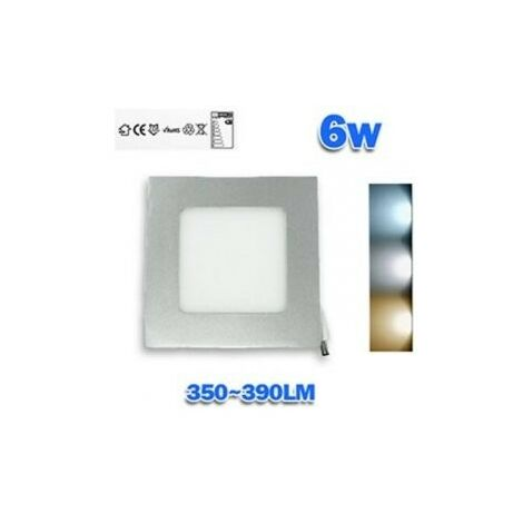 Downlight LED 6W empotrar aro plata cuadrado