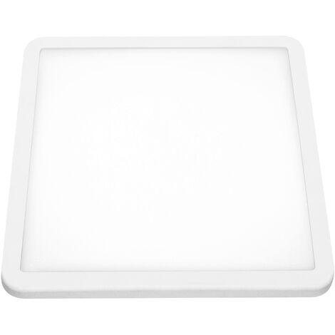 Downlight led ajustable cuadrada blanco 20W cálida - Blanco