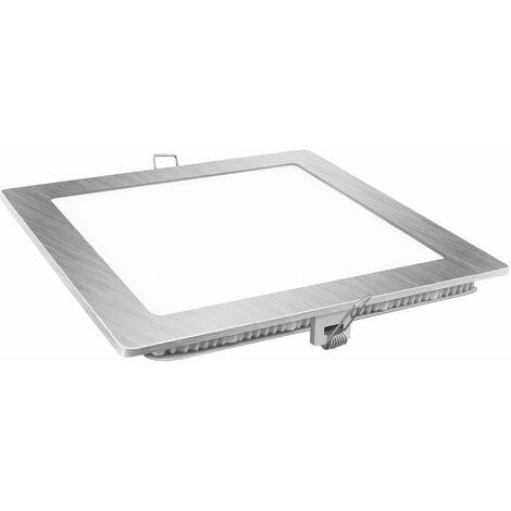 Downlight Led Aluminio Cuadrado 6W plata 600Lm Matel
