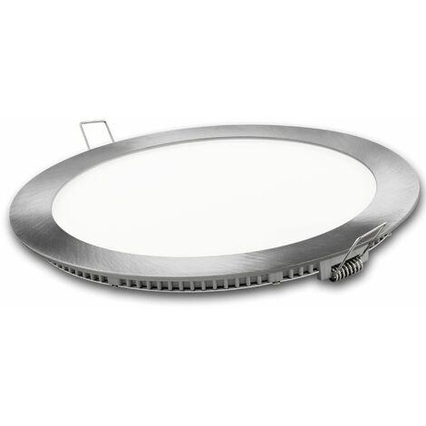 Downlight Led Aluminio Redondo 24W Plata 2400Lm Matel