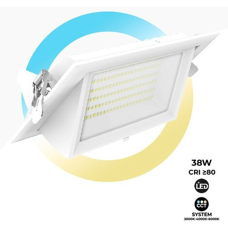 Downlight LED bascultante rectangular 38W 120° CCT SYSTEM