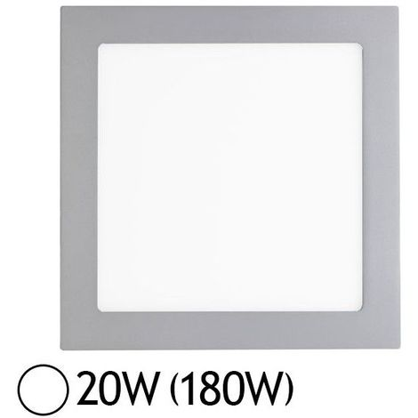 Downlight LED Carré Extra-plat (Panel LED) 20W Alu