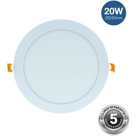 Downlight LED circular 20W empotrable - 5 años de garantía | Blanco Neutro