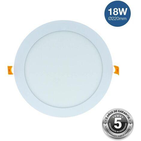 Downlight LED circular empotrable 18W - 5 años de garantía   Blanco Frío
