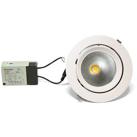 Downlight LED circular empotrable basculante 32W 60º