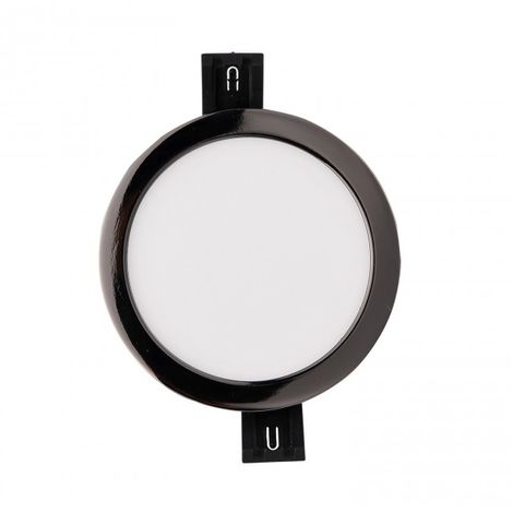 Downlight LED círculo 9W 4000 K grafito negro
