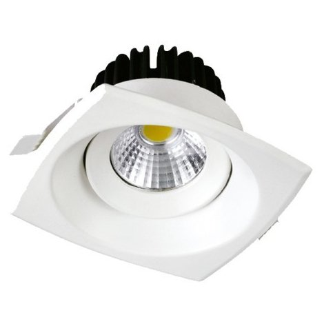 Downlight led COB Mini Premium empotrable Cuadrado Fijo 8W 24°
