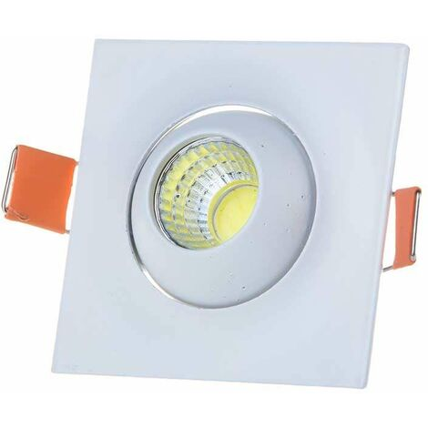 Downlight led Cob Mini Premium empotrable Cuadrado Orientable 3W 60°