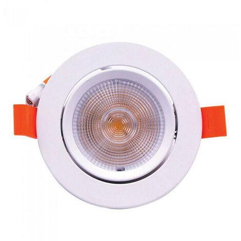 Downlight LED COB Samsung extraplano circular blanco 10W 120° ajustable Temperatura de color - 4000K Blanco natural